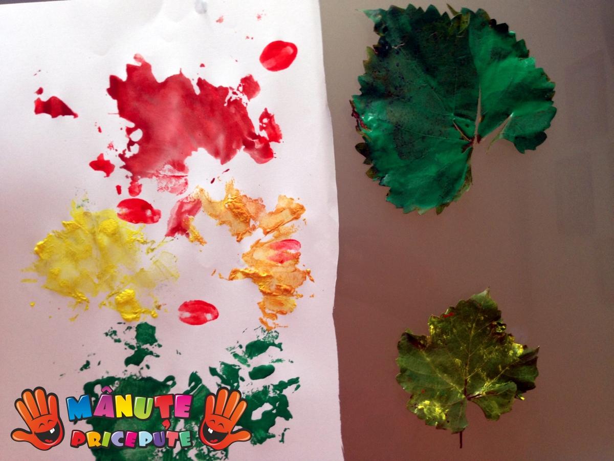Frunze pictate