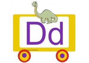 D - 005 - litere de tipar - vagon tren alfabetar