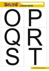 006 - fise cu litere de tipar HIJKLM - alb negru