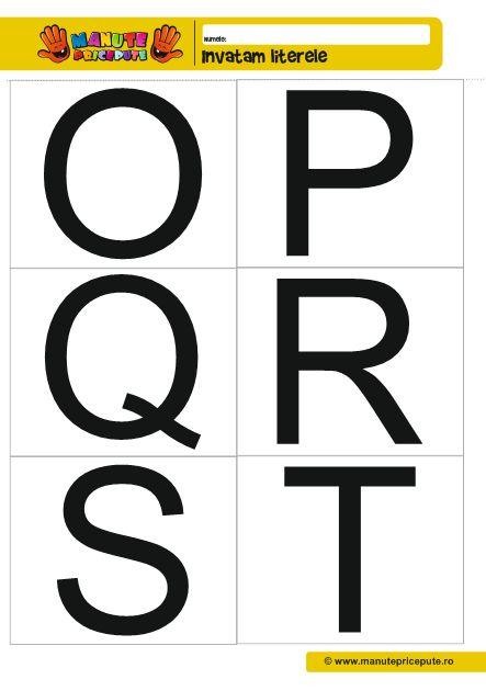 Fise de lucru alfabetar O, P, Q, R, S, T