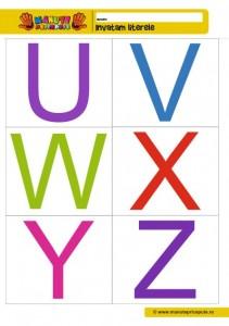 007- fise cu litere de tipar UVWXYZ