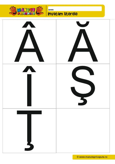 Fise de lucru alfabet