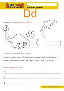 D - 006 - litere mici de tipar