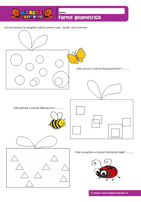 Forme geometrice – Cadouri