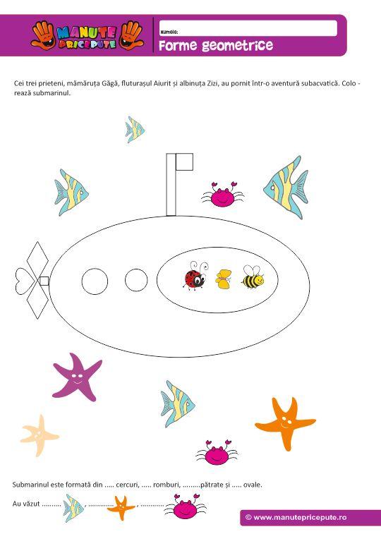 Forme geometrice – Submarinul