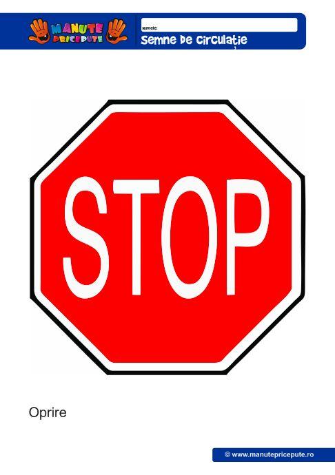 Semne de circulatie: stop