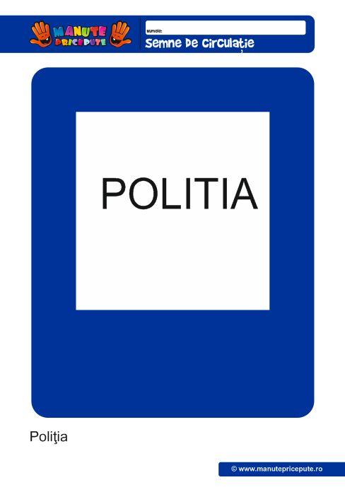 Semne de circulatie: Politia