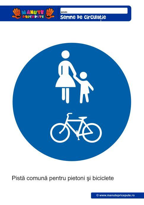 Pista pentru pietoni si biciclete