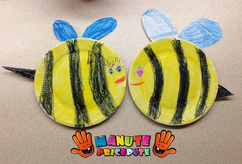 Albina din farfurie de hartie