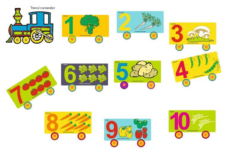 Trenul legumelor si numerelor