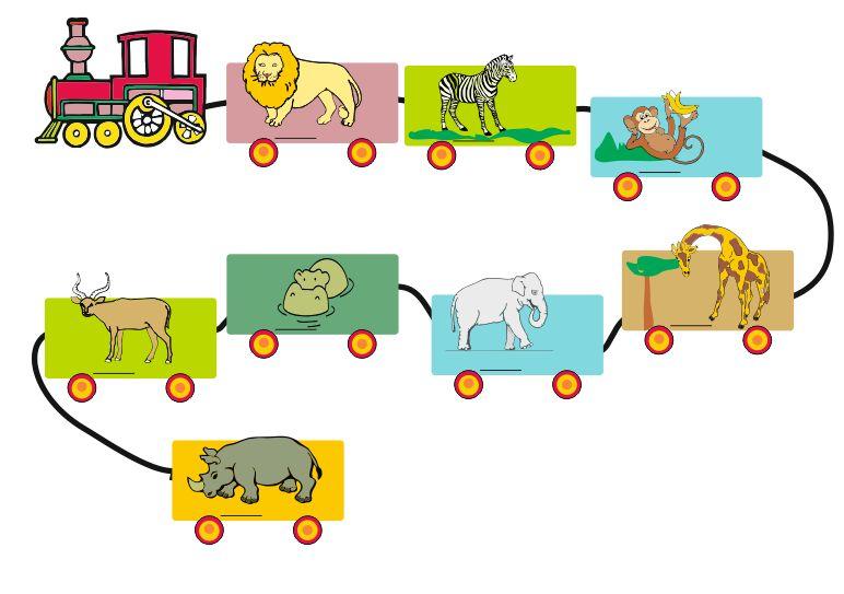 Trenurile animalelor din jungla si savana