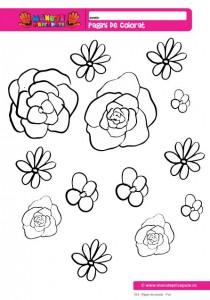 013 - Pagini de colorat - Flori