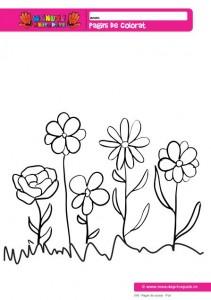 018 - Pagini de colorat - Flori