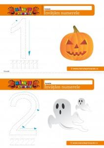 cifra 1-2 - 009 - fise de lucru cu numere de Halloween