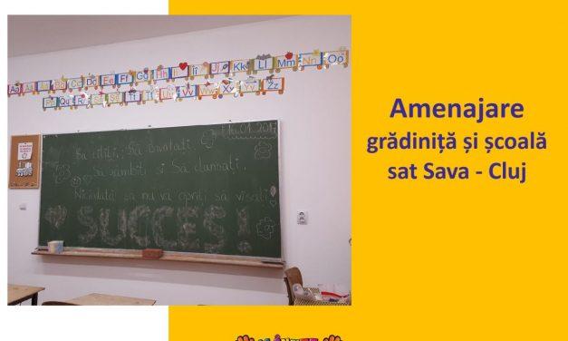 Dotare grădiniță și școala din Sava