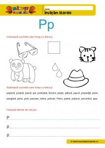 P - 006 - Fise de lucru cu litera P
