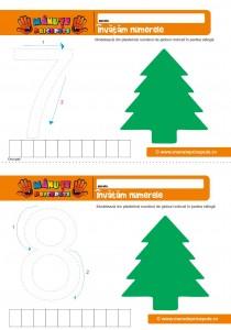 cifra 7- 8 - 008 - Fise de lucru cu cifrele 7 si 8 - tema iarna