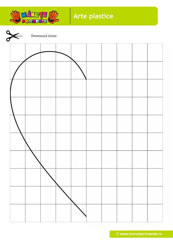 Continuă desenul cu inimioară