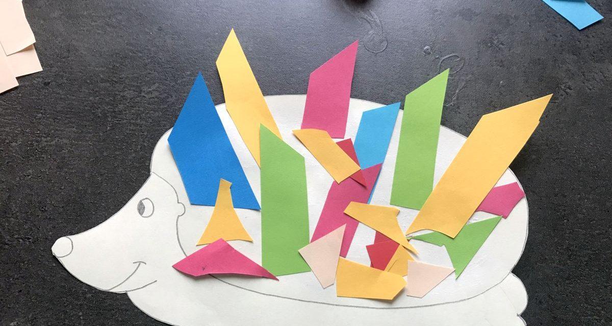 Arici din hârtie colorată